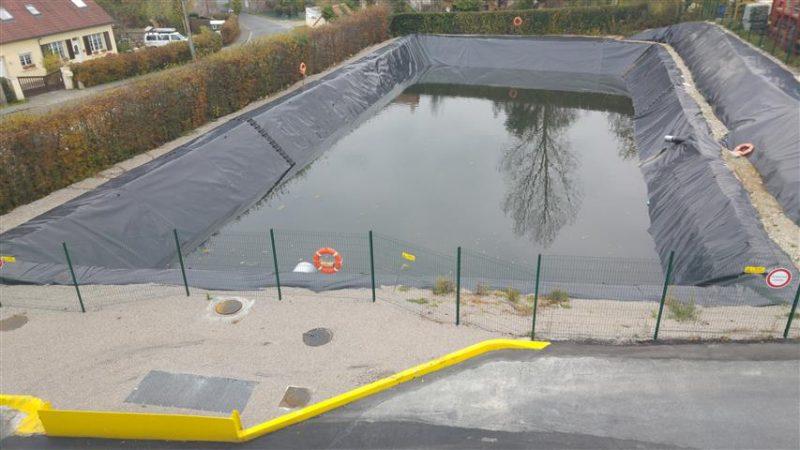 Le bassin de rétention chez TRB à Nesles